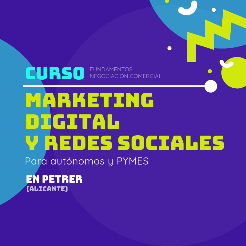 Curso: Marketing digital y Redes sociales para autónomos y PYMES (Petrer)